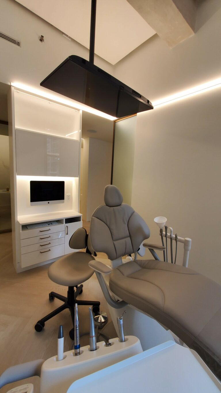 Dental Chair with iMac and Ceiling TV