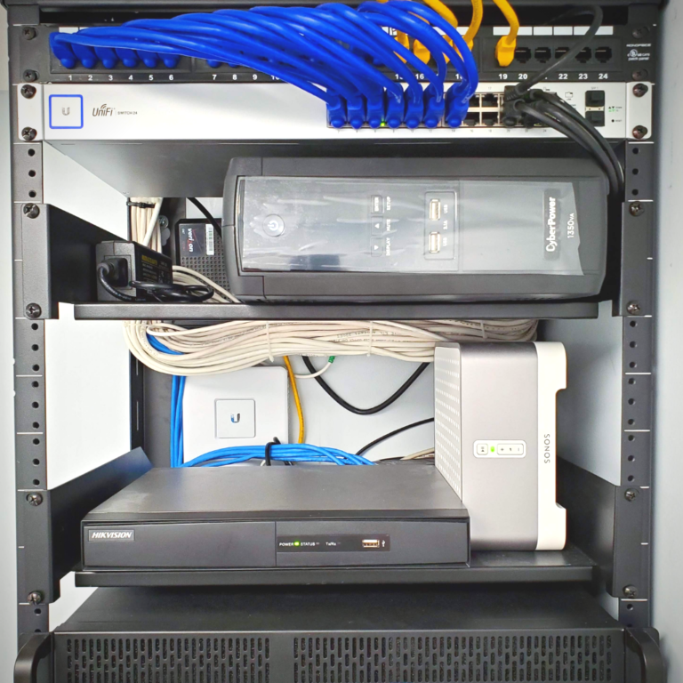 Network Rack with Cabling