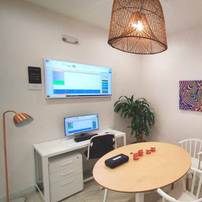 Consultation Room with Samsung Frame TV and Computer